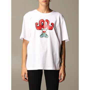 Love Moschino T-shirt Love Moschino Cotton T-shirt With Sport Heart Print