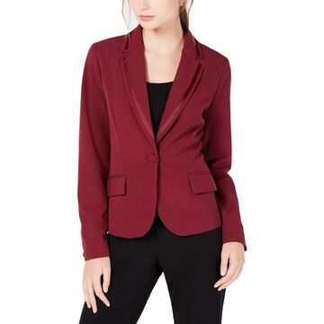 XOXO Womens Juniors Suit Separate Office Wear One-Button Blazer