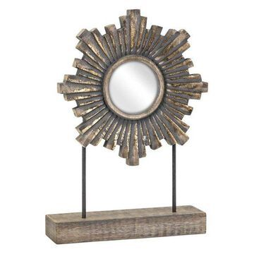 Imax Mango Wood And Glass Mirror With Beige Finish 14772