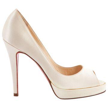 Christian Louboutin Ecru Cloth Heels