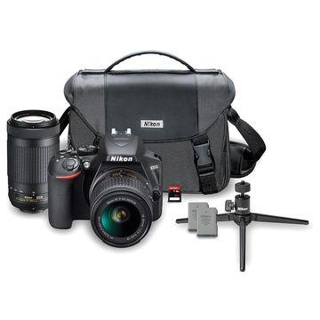 Nikon D3500 24.2MP DX DSLR Kit w/ 18-55mm & 70-300mm NIKKOR AF-P Zoom Lenses