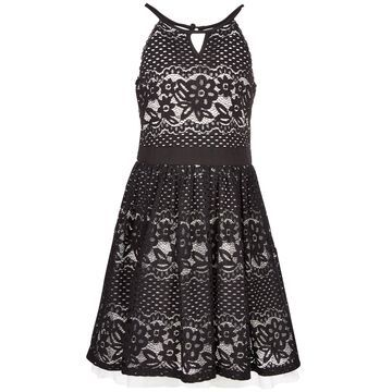 Big Girls Cut Out Lace Skater Dress, Created for Macy's