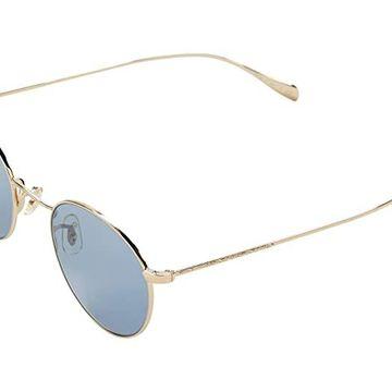 Oliver Peoples Coleridge (Gold/Cobalto) Fashion Sunglasses