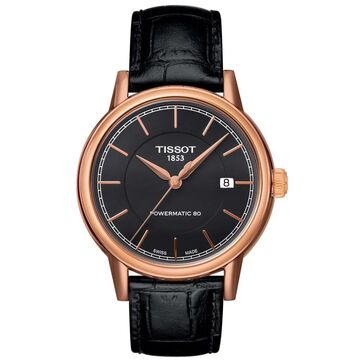 Tissot Men's T0854073606100 Carson Black Dial Rose Goldplated Watch