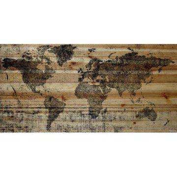 """Parvez Taj Lost in the World Pinewood Wall Art, 20"""" x 40"""""""
