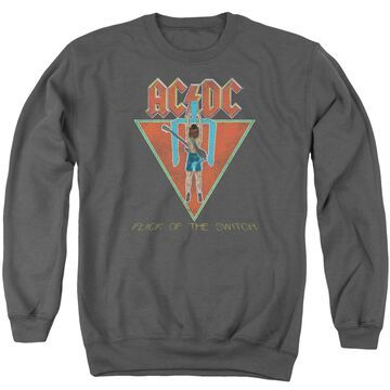 ACDC116-AS-6 ACDC Flick of the Switch-Adult Crewneck Sweatshirt, Charcoal - 3X