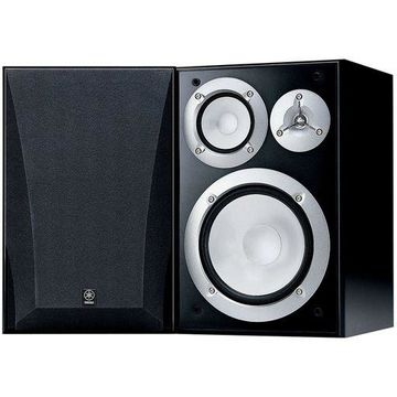 ''Yamaha NS-6490 3-Way Bookshelf Speakers, Black Finish Pair''