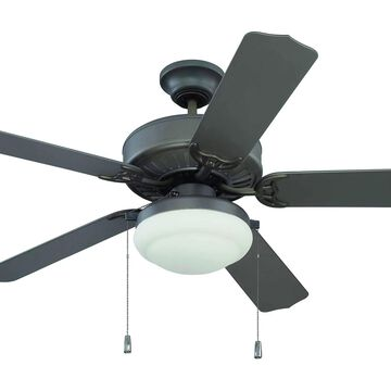 """Craftmade 52"""" Enduro Plastic with Light Kit Ceiling Fan in Espresso"""