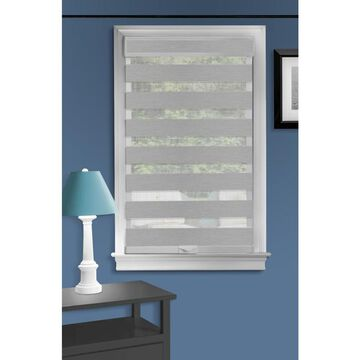 Achim Celestial 39-in Grey Sheer Cordless Roller Shade Polyester in Gray