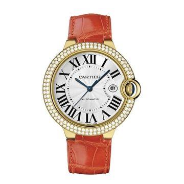 Cartier Men's WE900751 'Ballon Bleu' Orange Leather Watch