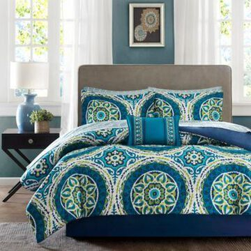 Madison Park Essentials Serenity 7-Piece Twin Comforter Set in Blue