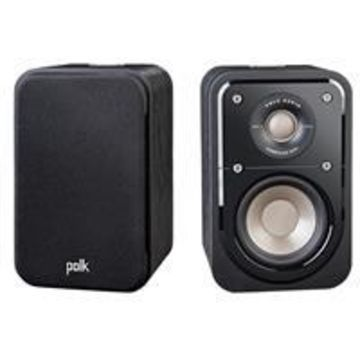 Polk Audio Signature Series S10 Home Theater Compact Satellite Surround Speakers, Pair, Washed Black Walnut