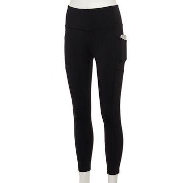 Women's Tek Gear High-Waisted Shapewear Leggings, Size: XL Short, Black