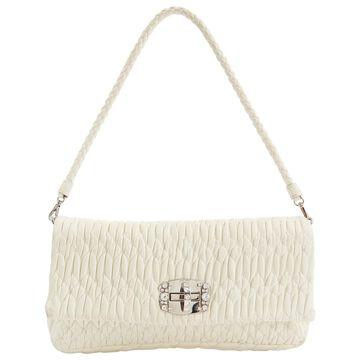 Miu Miu Miu Miu Cristal White Leather Clutch Bag