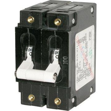 Blue Sea Systems 7251 C-Series White Double Pole 50A Toggle Circuit Breaker