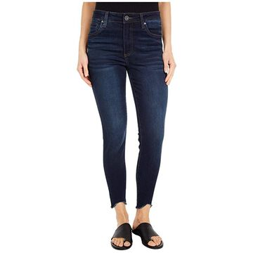KUT from the Kloth Connie High-Rise Ankle Skinny with Curve Raw Hem in Alter
