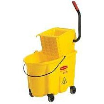 Rubbermaid 1887305 35 qt. Wavebrake Oval Mop Bucket & Wringer, Yellow