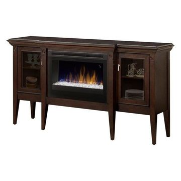 Dimplex Upton Mantel Electric Fireplace Cabinet With Acrylic Ember Bed