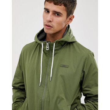 Esprit hooded bomber jacket in khaki-Green