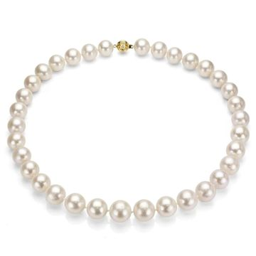 DaVonna White Freshwater Pearl 24-inch Necklace (10-11 mm)