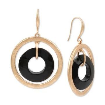 Robert Lee Morris Soho Gold-Tone Orbital Drop Earrings