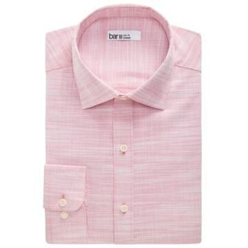 Bar Iii Men's Organic Cotton Slub Solid Slim Fit Dress Shirt, Created for Macy's