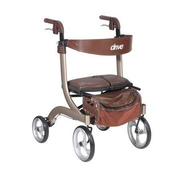Drive Medical Nitro DLX Euro Style Rollator Rolling Walker, Champagne