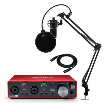 Focusrite Scarlett 2i2 3rd Gen 2x2 USB Audio Interface with AT2020 Mic Bundle
