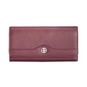 Giani Bernini Pebble Leather Receipt Wallet, Created for Macy's