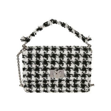 Furla Twist-lock Flap Frayed Shoulder Bag