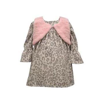 Bonnie Jean Girls' Baby Girls Leopard Dress With Vest - -