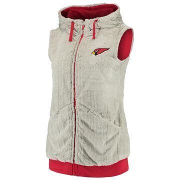 Women's Antigua Silver/Cardinal Arizona Cardinals Rant Hooded Full-Zip Vest