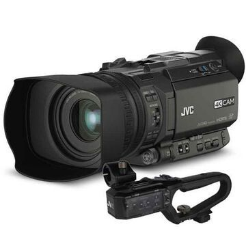 JVC GY-HM170 4KCAM Compact Professional Camcorder with Integrated 12x Optical Zoom Lens and Top Hand