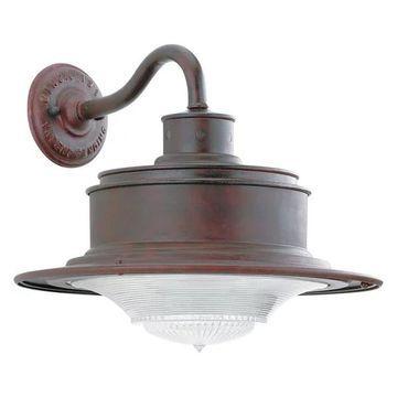 Troy South Street 1-LT Medium Wall Light Downlight Old Rust B9391OR