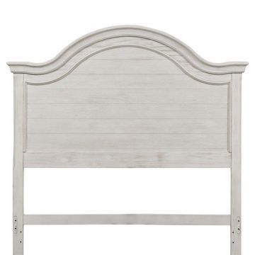 Liberty Bayside Heavy Wire Brushed Antique White Wood Full Panel Headboard