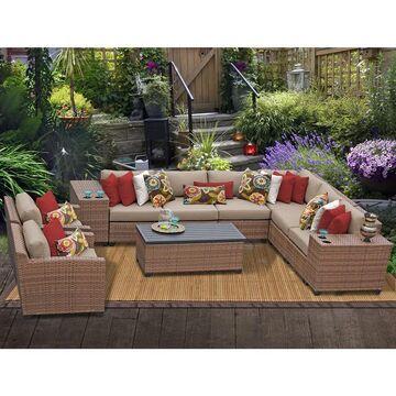 Laguna 11 Piece Outdoor Wicker Patio Furniture Set 11d