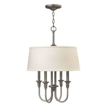 Hinkley Lighting Webster 4 Light Foyer 1 Tier, Antique Nickel - 3736AN