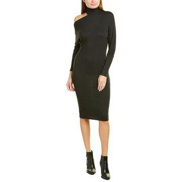 Enza Costa Heather Rib Exposed Shoulder Midi Dress