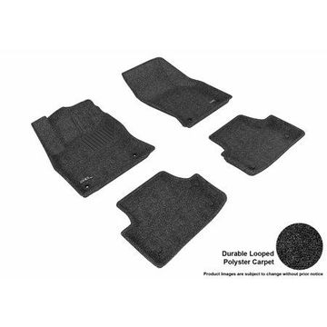 3D MAXpider 2015-2017 Audi A3/S3 Front & Second Row Set All Weather Floor Liners in Black Carpet