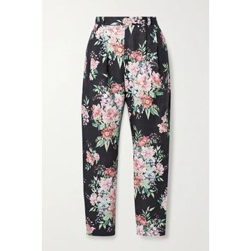 Zimmermann - Bellitude Floral-print Linen Tapered Pants - Navy