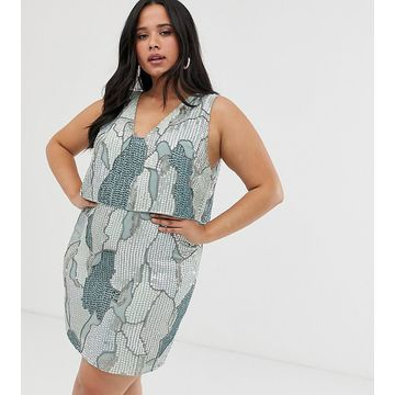 ASOS DESIGN Curve camo sequin mini dress