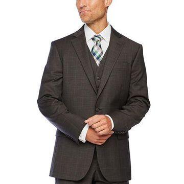 Stafford Super Windowpane Stretch Suit Jacket