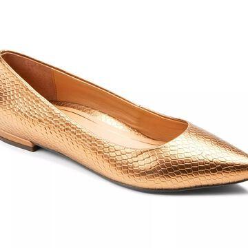 Vionic Pointed Toe Flats - Lena Snake