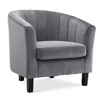 Modway Prospect Channel Tufted Upholstered Velvet Armchair