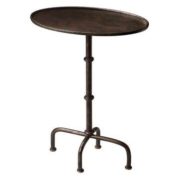 Butler Transitional Pedestal Table, Silver