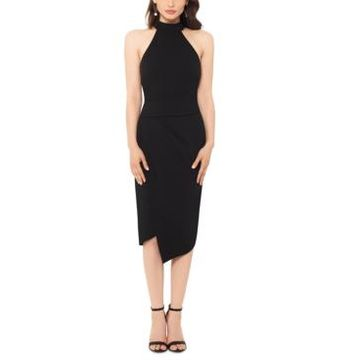 Betsy & Adam Asymmetrical-Hem Bodycon Dress