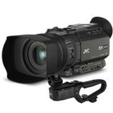 JVC GY-HM170 4KCAM Compact Professional Camcorder with Integrated 12x Optical Zoom Lens and Top Handle Audio Unit