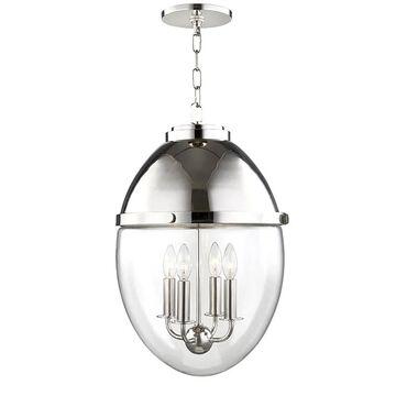 "Hudson Valley Kennedy 4-Light 23"" Pendant Light in Polished Nickel"