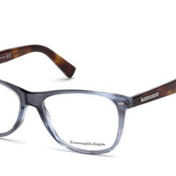 Ermenegildo Zegna EZ5055 090 Men's Glasses Blue Size 54 - Free Lenses - HSA/FSA Insurance - Blue Light Block Available