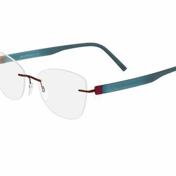 Silhouette Rimless 5506 Inspire Eyeglasses in Red